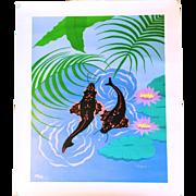 Koi Garden by Larissa Holt; Limited Edition Giclee on Canvas