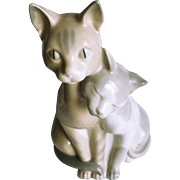 Vintage Spanish Porcelain Cat Figurine