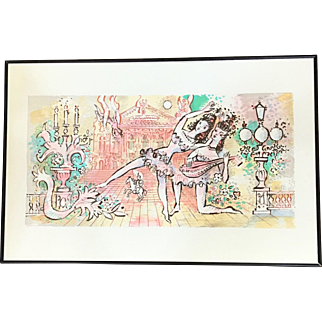 """Charles Cobelle """"The Lute Dancers"""" Lithograph Signed and Numbered 13/500"""
