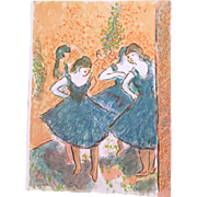 "Wayne Ensrud ""Homage to Degas 1"" Artist Proof Lithograph on Paper"