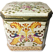At Nouveau Style Porcelain Box