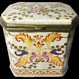 Large Art Nouveau Style Porcelain Box