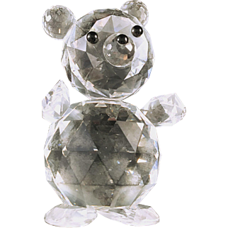 Swarovski Giant Crystal Bear 1980's 7637 NR 112