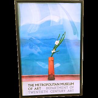 Vintage David Hockney 1988 Exhibition Poster