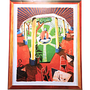 David Hockney Views of Hotel Well III Poster
