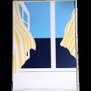 "Art Poster by Ole Kortzau ""Knudsodde"" Edition 65/65 1978"