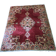 Vintage Kirman Carpet 72 x 52 Inches