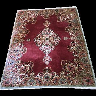 Vintage Kirman Carpet 72 x 52 Inches