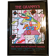 Peter Max 1994 Grammy Poster