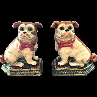 Staffordshire Like Pug Figurines