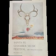 Santa Fe Chamber Music Festival Poster 1984