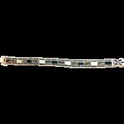 Sterling Silver Vintage Bracelet with Stones