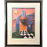 1992 Absolut Vodka Signed and Numbered Poster/Lithograph