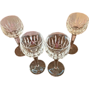 Set of 4 Waterford Lismore Wine Goblets