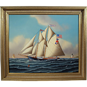 """""""Mobjack Bay Molly"""", Maritime Painting by Jerome Howes, Oil on Masonite"""