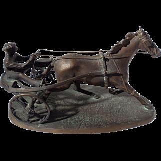 """""""Harness Racer"""", Bronze Sculpture by R.A. De Luca"""
