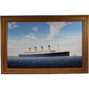 """R.M.S. Titanic"", Contemporary Maritime Painting by Graham Flight, Oil on Masonite"