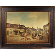 """Emsworth 1820"", Painting by Briane Coole, Oil on Wood Panel"