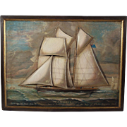 "The ""Cambria"", Maritime Diorama, 19th Century, Oil on Wood"