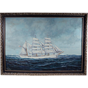 """The Eagle"", 20th Century Seascape / Maritime Painting by Robert J. Lie, Oil on Canvas"