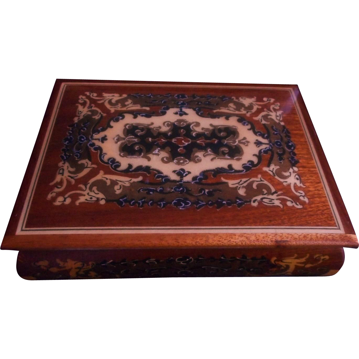 Italian Marquetry Tea Cart Moreover Italian Inlaid Musical Jewelry Box . Full resolution‎  image, nominally Width 1367 Height 1367 pixels, image with #9E472D.