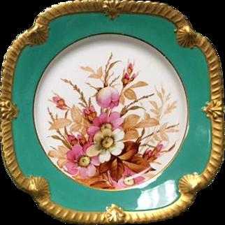 Royal Worcester Teal Plate