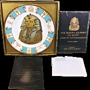 Vintage Boehm Tutankhamun Commemorative Plate and Book 1978