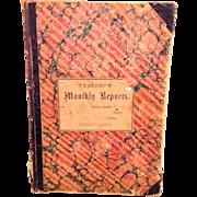 Antique Teachers Record Bath PA Northampton County 1885 - 1889 Primary School 2