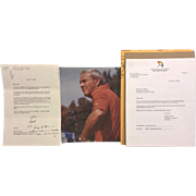 Arnold Palmer Signed Picture and Letter Correspondence from His Company and Relative 2004