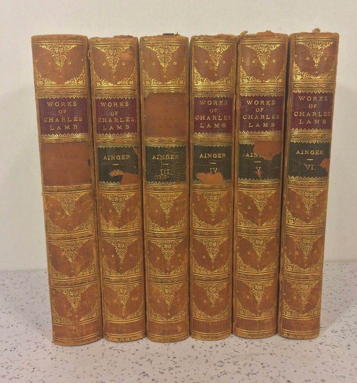antique books works of charles lamb 6 volumes 1893 from roll over large image to magnify click large image to zoom