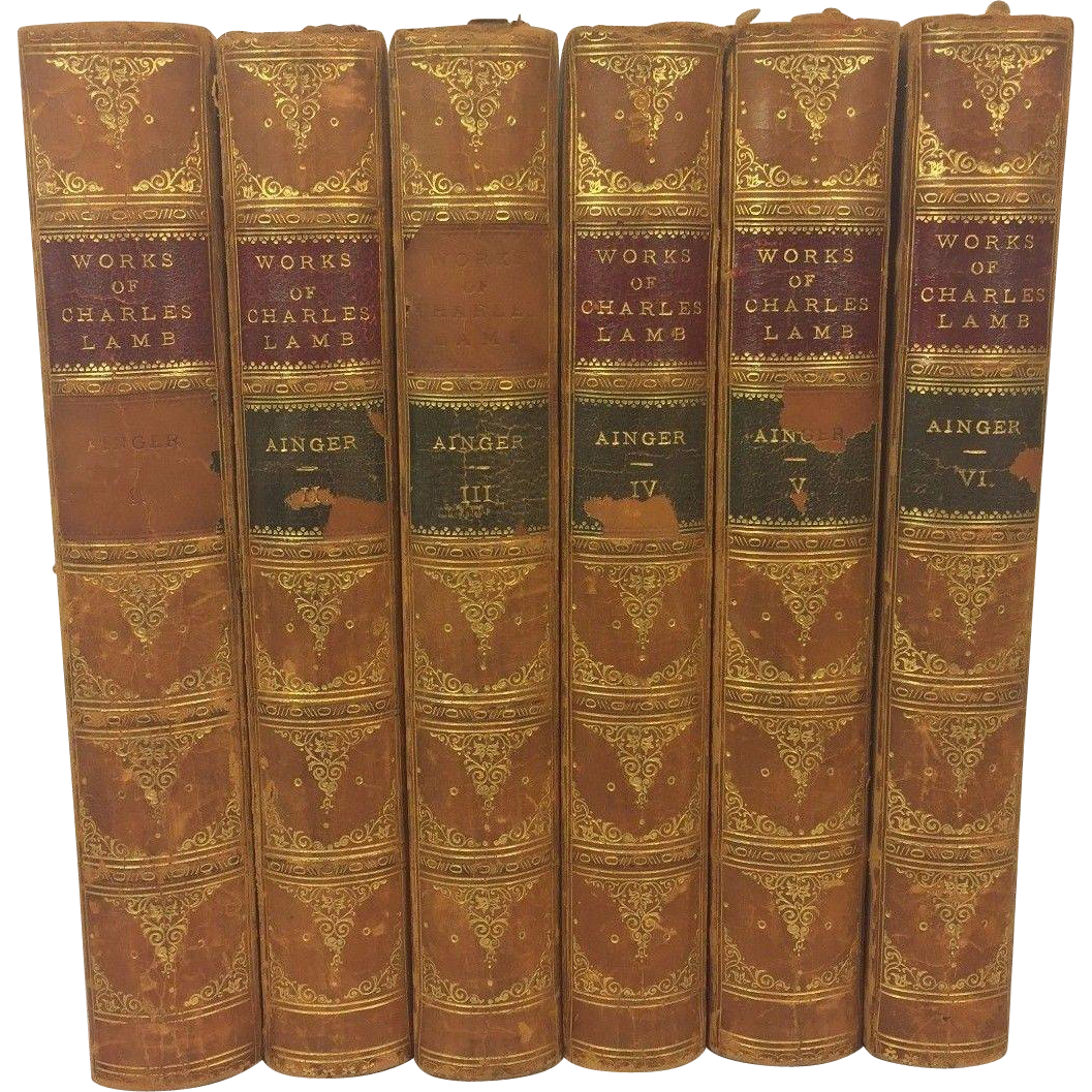 antique books works of charles lamb 6 volumes 1893 from antique books works of charles lamb 6 volumes 1893