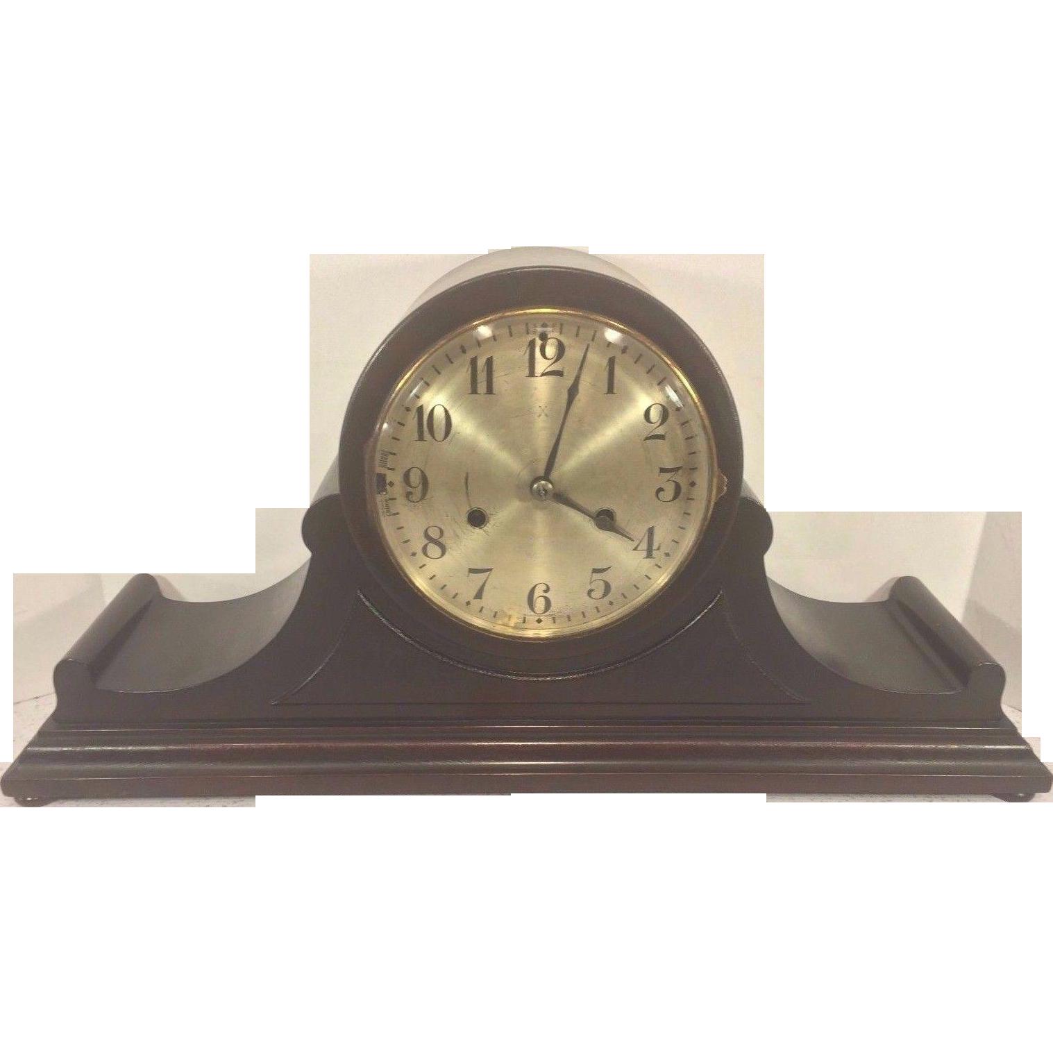 Vintage hamburg american clock co hac tambour case clock running vintage hamburg american clock co hac tambour case clock running westminster chimes amipublicfo Choice Image