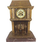"""Antique French Industrial Clock by Samuel Marti  """"Cooking Pot"""" Runs & Strikes 1890s"""