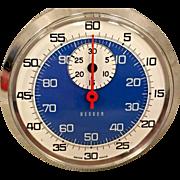Besser Stopwatch w/ Paper Box Not Running Swiss Made Nickel Plated Case