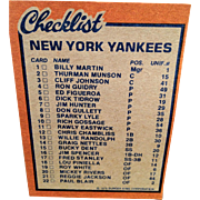 1978 Burger King Baseball Cards -  12 Yankees, Topps