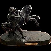 Phaeton, par C. Desmeure Statue (White Metal) The Sun God Helios' Son