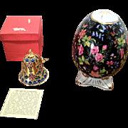 Vintage Cloisonne Bell and Porcelain Egg
