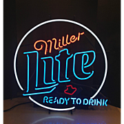 Vintage Miller Lite Ready to Drink Neon Light 1999 Working Condition