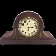 Vintage Seth Thomas Tambour Case Clock Runs & Gong Strike 89 AL Movement