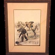 Antique Edouard Jean Baptiste Detaille Lithograph
