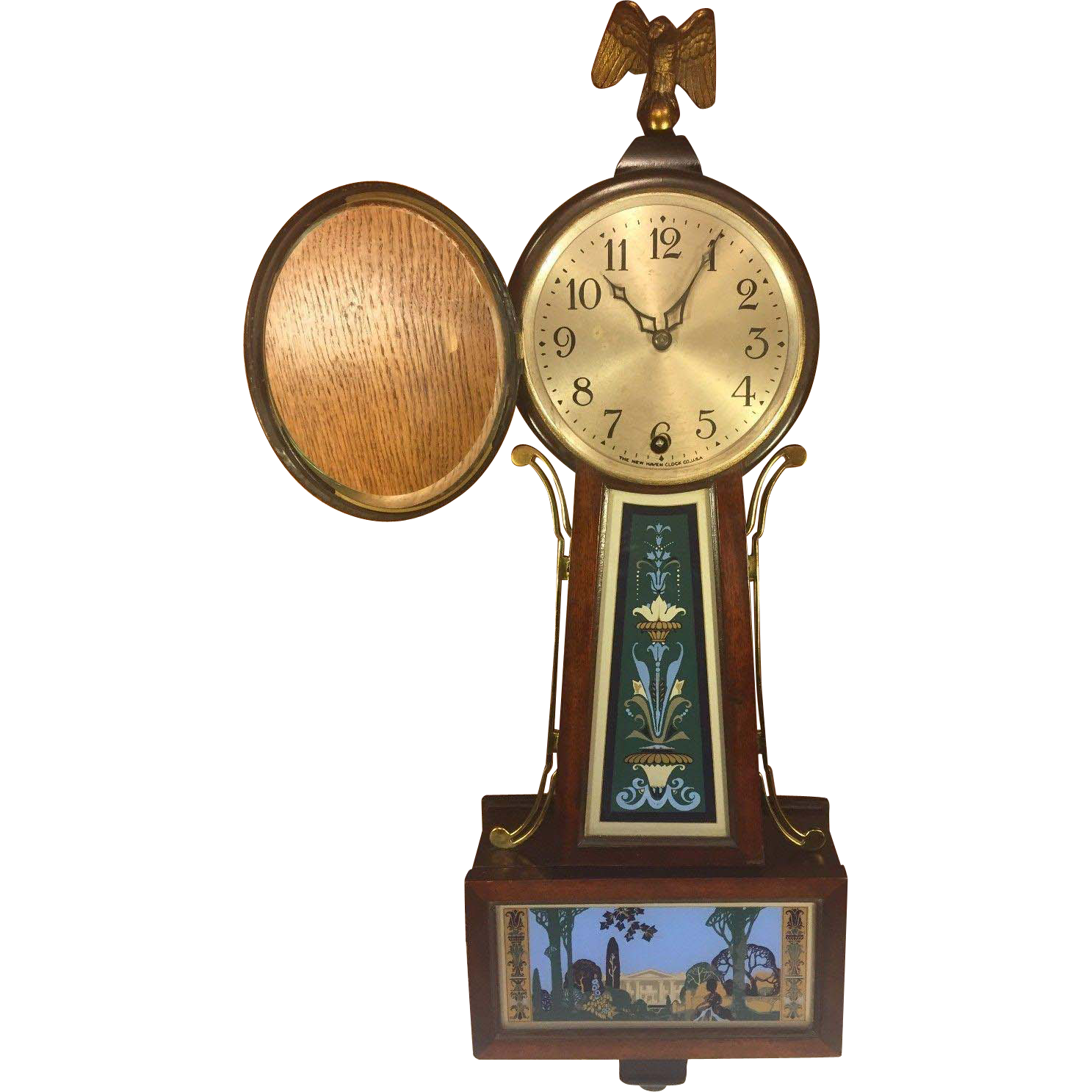 Antique New Haven Winsome Model Time Only Clock Runs Brass Side Rails :  TimelessTokensDE | Ruby Lane