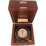Vintage 1940s Hamilton Model #22 Chronometer Inner Case Only No Serial # on Gimbal and Case Jewels Runs Movement # 2F3856