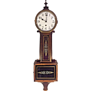 Vintage Willard No 11 Banjo Clock Time Only Spring Driven Not Running