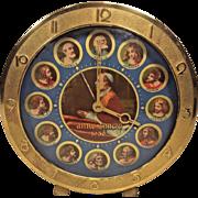 Vintage Pope Pius XII & 12 Apostles Anno Sancto 1950 Religious Alarm Clock Not Running