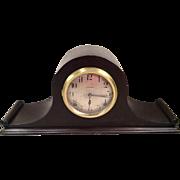 Seth Thomas Tambour Mantel Clock Great Walnut Case Runs