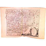 Robert De Vaugondy 1752 Large Map of Belgium Brabant Meridional from 1752 Atlas?