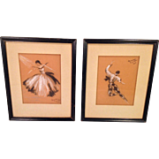 Ballet Dancer Drawings by Alverda Zemalis Kae Listed Handicapped Artist