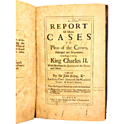 Antique Book Report on Diverse Cases in Pleas of the Crown 1708 King Charles II