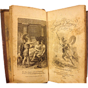 Antique Miniature Book The Iliad of Homer Translated by Alexander Pope 1805 Miniature Publ. - Suttabys Printer C Corrall London England