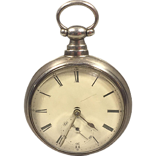 Antique Fusee Pocket Watch James Ryland Liverpool England Runs Serial # 3010 Early 1800s